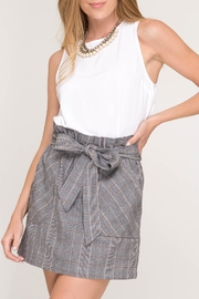 She + Sky Plaid Skirt - Product Mini Image