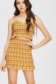 Emory Park Plaid Skirt Set - Front cropped