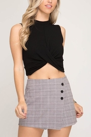 She + Sky Plaid Skort - Product Mini Image