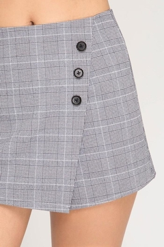 She + Sky Plaid Skort - Alternate List Image