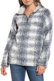 Dylan Plaid Stadium Pullover - Front cropped