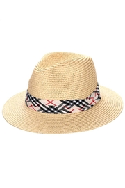 Wona Trading Plaid Straw Sun-Hat - Front cropped