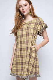 Ivy Jane Plaid Swing Fringe Dress - Product Mini Image