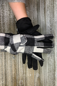 Shoptiques Product: Plaid Texting Gloves