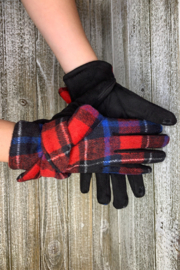 Giftcraft Inc.  Plaid Texting Gloves - Front cropped