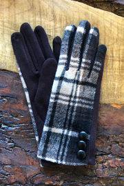 Gift Craft Plaid texting gloves - Front cropped