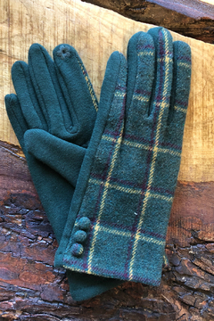 Gift Craft Plaid texting gloves - Product List Image