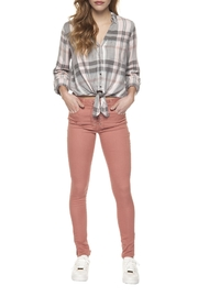 Dex Plaid Tie-Front Top - Product Mini Image