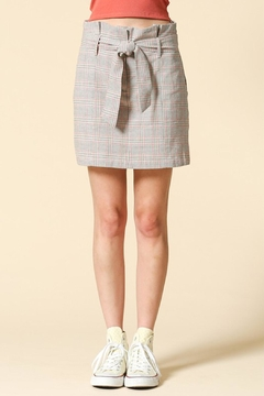 Shoptiques Product: Plaid Tie Skirt