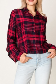 HYFVE Plaid Tie Top - Product Mini Image