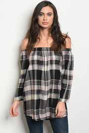 Renee C Plaid Top - Product Mini Image