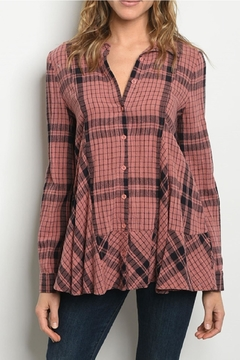 Gilli USA Plaid Top - Product List Image