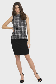 Joseph Ribkoff Plaid Top - Product Mini Image