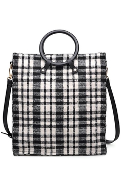 Shoptiques Product: Plaid Top-Handle Tote