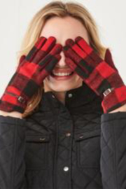 Charlie Paige Plaid touchscreen gloves - Front cropped