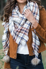 Grace & Lace Plaid Triangle Scarf - Product Mini Image
