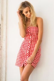 Honey Punch Plaid Tube-Top Dress - Other