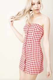 Honey Punch Plaid Tube-Top Dress - Back cropped