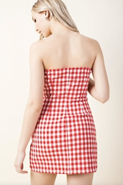 Honey Punch Plaid Tube-Top Dress - Side cropped