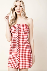 Honey Punch Plaid Tube-Top Dress - Product Mini Image