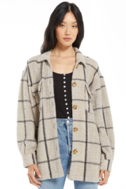 z supply Plaid Tucker Jacket - Front cropped