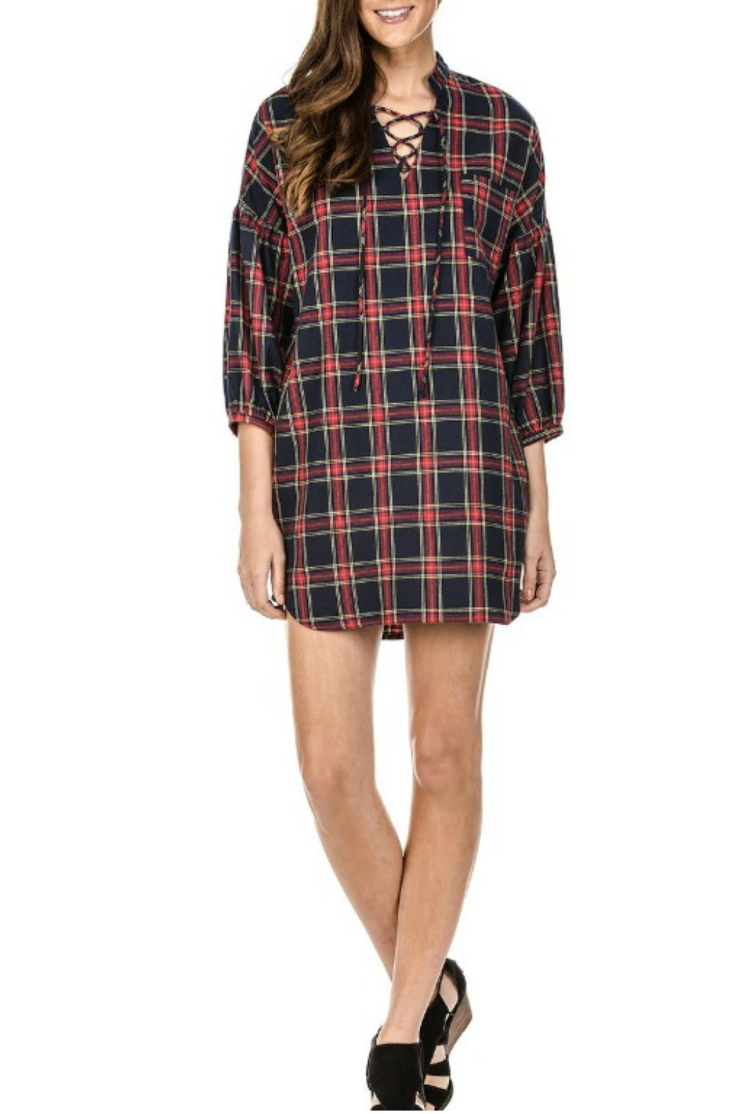 Joy Joy Plaid Tunic - Main Image