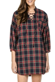 Joy Joy Plaid Tunic - Front full body