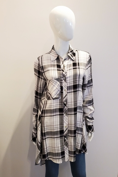 Katherine Barclay Plaid Tunic Button-Up - Product List Image