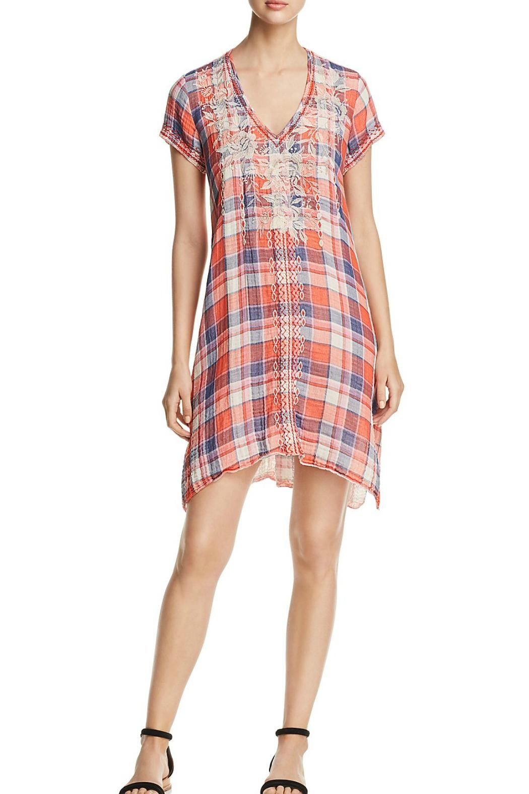 Johnny Was Plaid Tunic/dress - Front Cropped Image