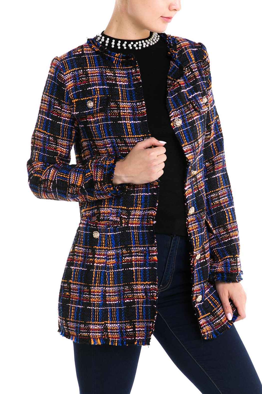 92778dd0ba Jealous Tomato Plaid Tweed Jacket from New York by Dor L Dor ...