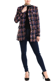 Jealous Tomato Plaid Tweed Jacket - Product Mini Image
