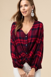 entro  Plaid twist front top - Product Mini Image