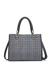 Urban Expressions Plaid Vegan Satchel - Product Mini Image