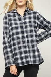 Andree by Unit Plaid Velvet-Embroidered Blouse - Front full body