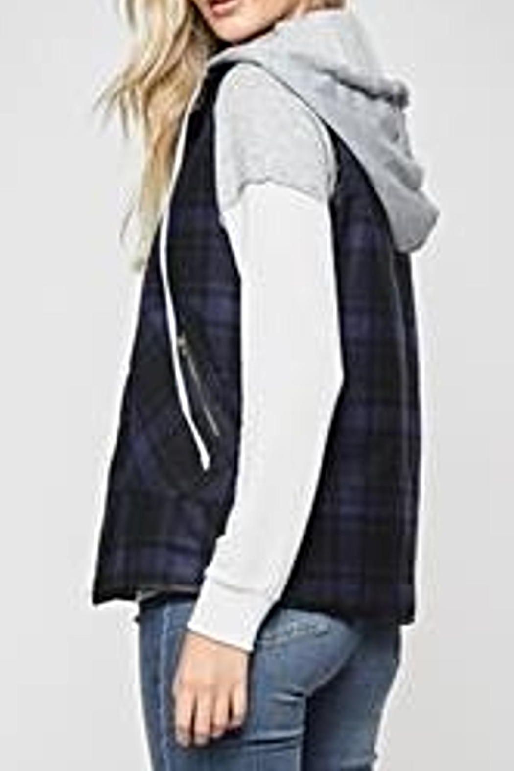 Andree by Unit Plaid Vest - Front Full Image