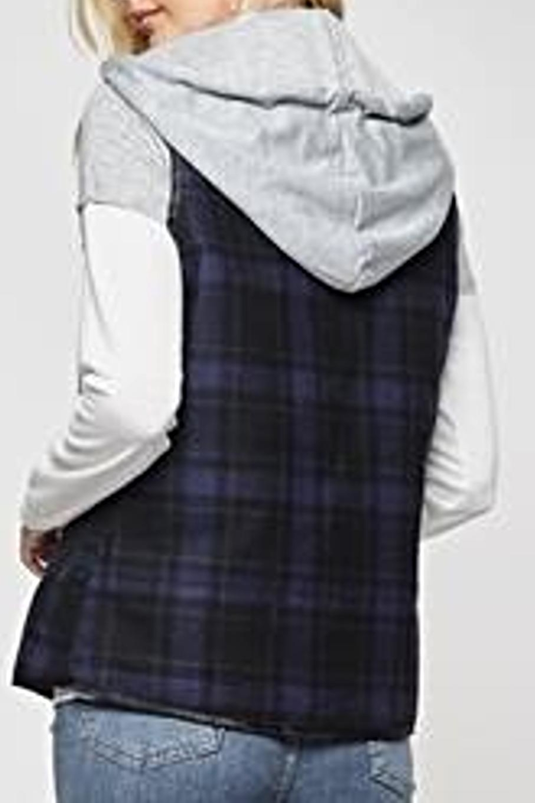 Andree by Unit Plaid Vest - Side Cropped Image
