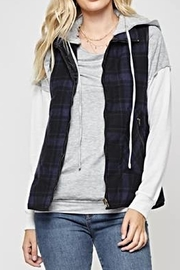 Andree by Unit Plaid Vest - Front cropped