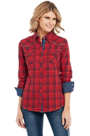 Cowgirl Up Plaid Western Shirt - Product Mini Image