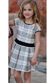Dolls and Divas Couture Plaid White Dress - Front cropped