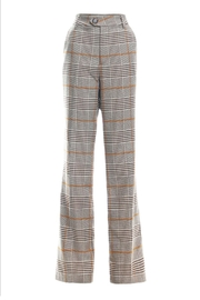 Renamed Clothing Plaid Wide-Leg Trouser - Product Mini Image