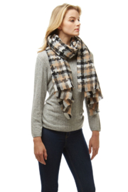 Love of Fashion Plaid Winter Scarf - Front full body