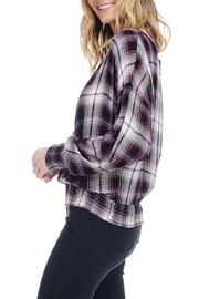 Anama Plaid Wrap Blouse - Product Mini Image