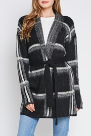 Idem Ditto  Plaid Wrap Cardigan - Product Mini Image