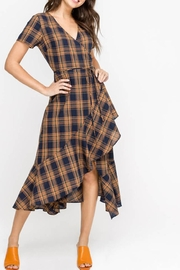 Lush Plaid Wrap Dress - Product Mini Image