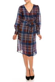 Jealous Tomato Plaid Wrap Dress - Product Mini Image