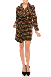 Active Basic Plaid Wrap Jacket - Product Mini Image