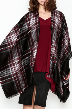 Shoptiques Product: Plaid Wrap Poncho