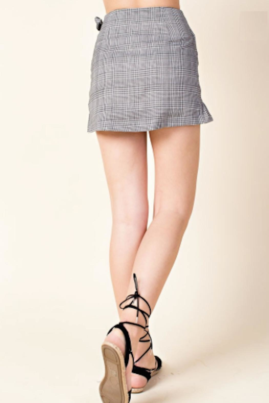 TIMELESS Plaid Wrap Skirt - Side Cropped Image