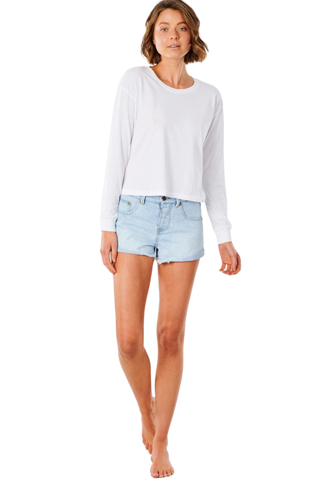 Ripcurl Plains Long Sleeve Tee - Back Cropped Image