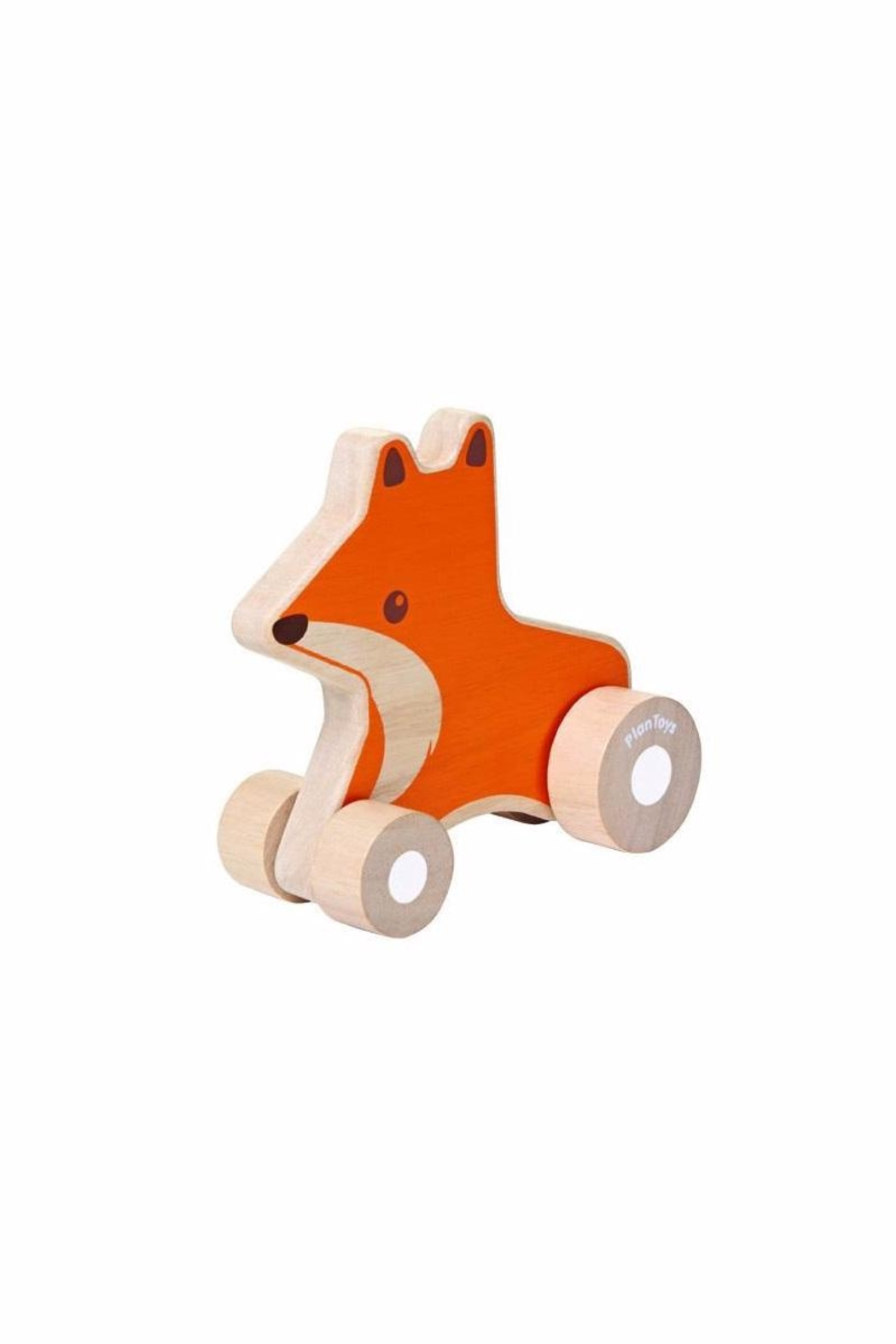 Plan Toys Wooden Fox Car - Front Cropped Image